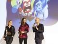 """lors de l'avant-premiere au grand Rex du film """"VICE & VERSA"""" , realisé par Pete Docter ( Pixar )- Paris, France."""