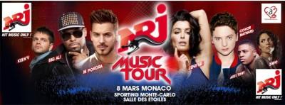 Concert NRJ MUSIC TOUR à MONACO le 8 mars avec M POKORA, JENIFER, CONOR MAYNARD...
