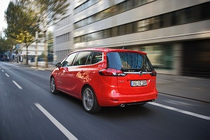 Opel Zafira Tourer BiTurbo, vue arrière