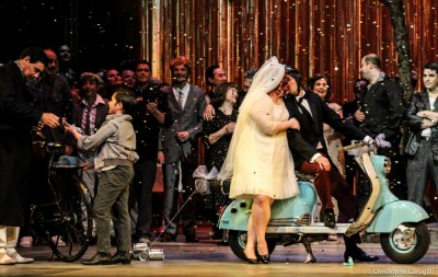 Le mariage de Norina et d'Ernesto en présence du docteur Malatesta-Don Pasquale de Donizetti par Stéphane Roche-Théâtre du Capitole (saison 2012-2013)-Toulouse, France-Avril 2013-Christophe Carugati