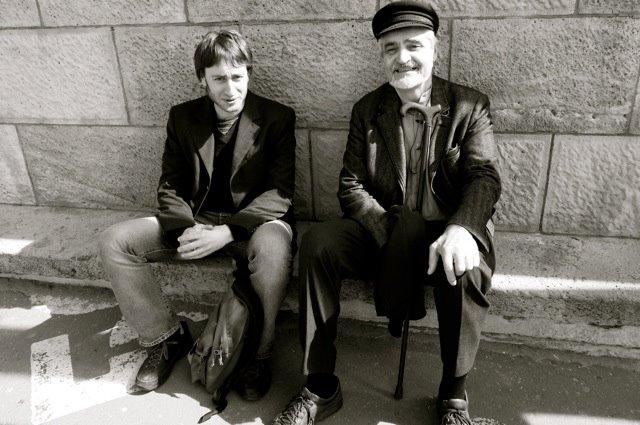 Vincent Liegey  avec le Serge Latouche, penseur de la décroissance