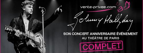 Concert Anniversaire de Johnny Hallyday au Théâtre de Paris
