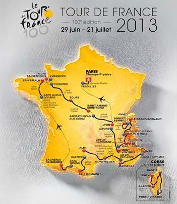 Parcourt du Tour de france 2013