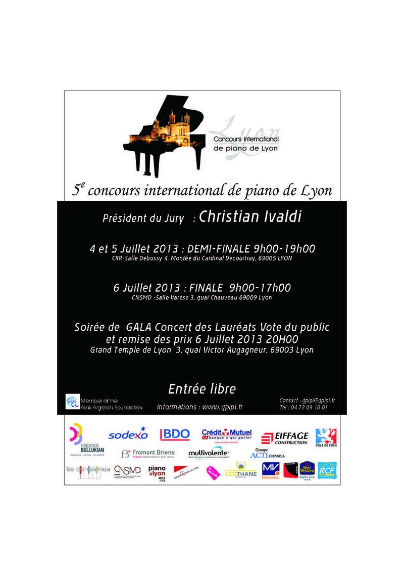 Musique lyon le concours international de piano se - Concours international de musique de chambre de lyon ...