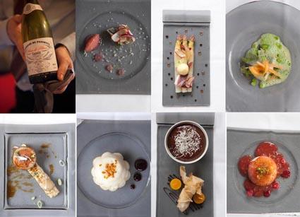 Les plats, le vin. © Maurice Rougemont