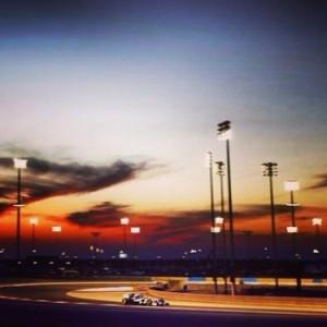 mercedes sur le circuit de Bahrein