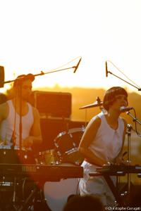 Le groupe La Femme au Festival Pantiero en 2011