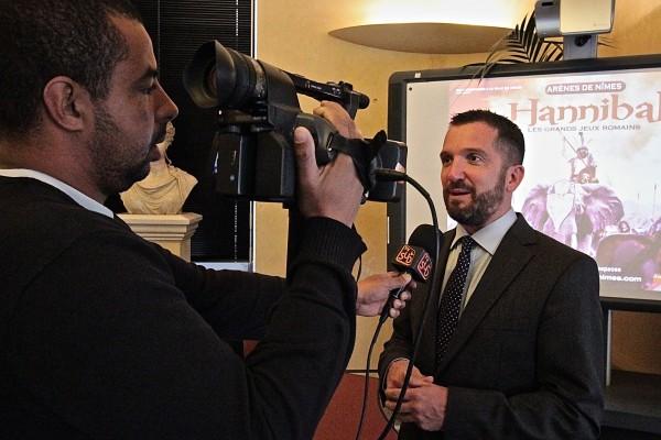 Durant la conférence de presse