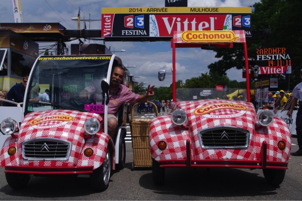caravanne Tour de France Cochonou