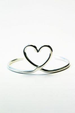 """Bracelet """"Mon coeur"""" Argent"""