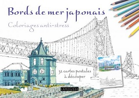 carnet-coloriage-anti-stress-bords-mer-japonnais-cartes-postales-larousse