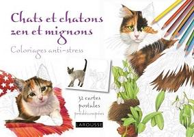 carnet-coloriage-anti-stress-chats-zen-mignons-japonnais-cartes-postales-larousse