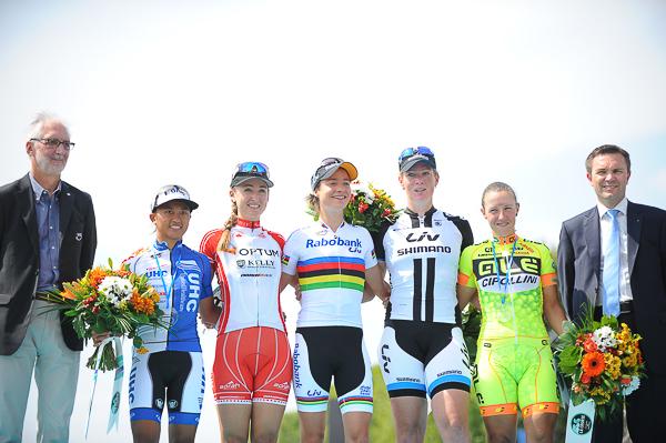 Le podium de l'édition 2015