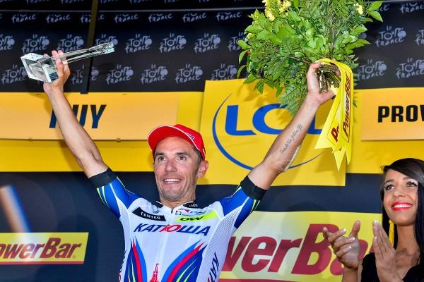 Joaquim Rodriguez vainqueur de la 3ème étape à Huy (Crédit : ASO/B.Bade)