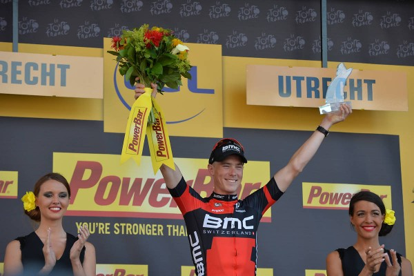 Rohan Dennis vainqueur de la 1ère étape à Utrecht (Crédit : ASO/B.Bade)