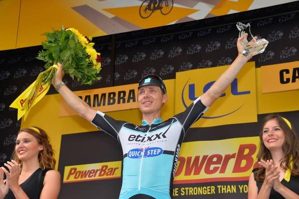 Tony Martin vainqueur de la 4ème étape à Cambrai (Crédit : ASO/B.Bade)