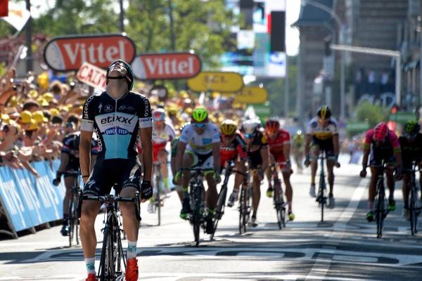 Zdenek Stybar vainqueur de la 6ème étape au Havre (Crédit : ASO/B.Bade)
