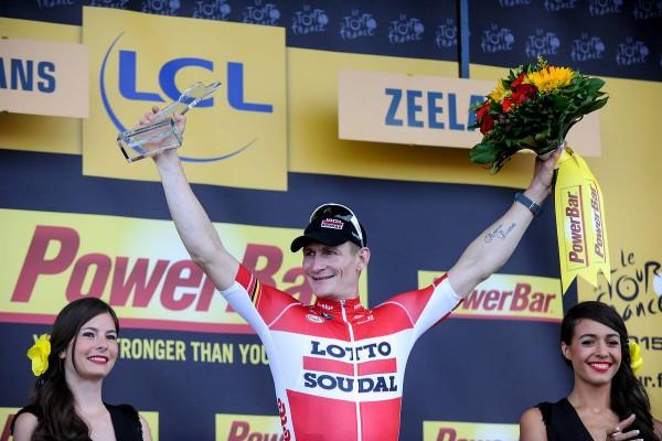 André Greipel vainqueur de la 2ème étape à Zélande (Crédit : ASO/B.Bade)