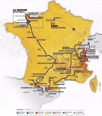 Carte Tour de France 2016