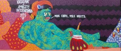 Fresque de l'artiste KASHINK
