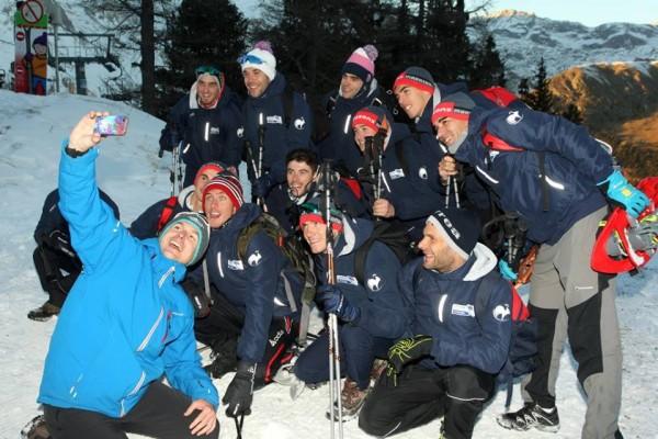 Equipe de France en stage