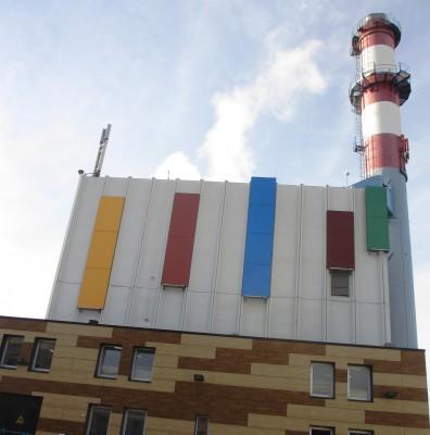 chaufferie biomasse de Stains façade principale