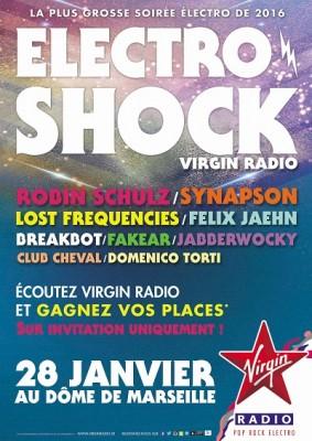 ELECTROSHOCK VIRGIN RADIO A MARSEILLE LE 28 JANVIER