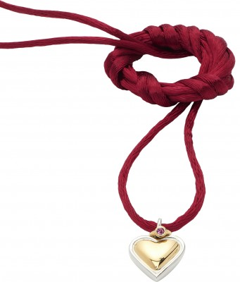 Collier bracelet cordon rouge coeur Energetix