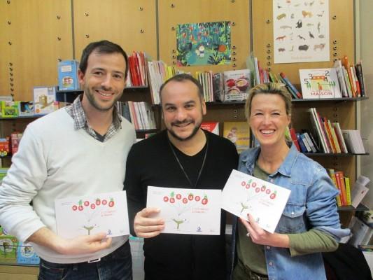 Benoît Blanc, François-Xavier Demaison et Sabine Bouillet