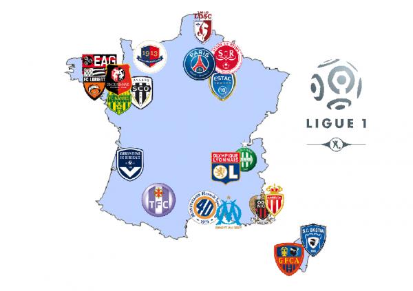 carte Ligue 1