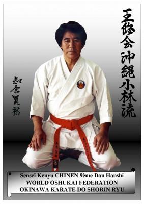 Sensei Chinen Seiza karate