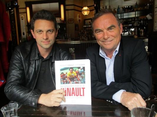Bernard Hinault et Louis de Mareuil, l'éditeur.
