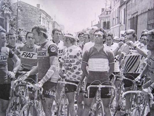 Manifestation 12ème étape Tour 1978