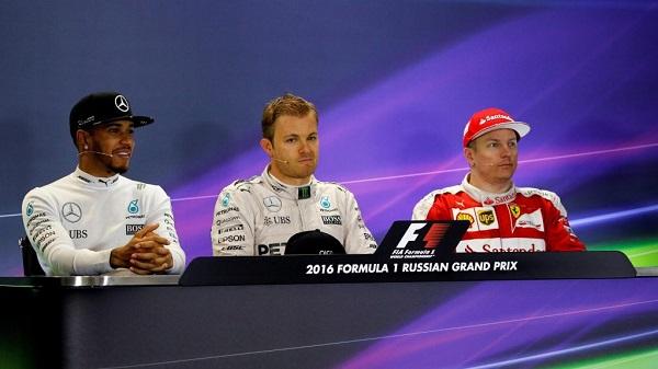 Formule 1 Hamilton Vettel Raikkonen