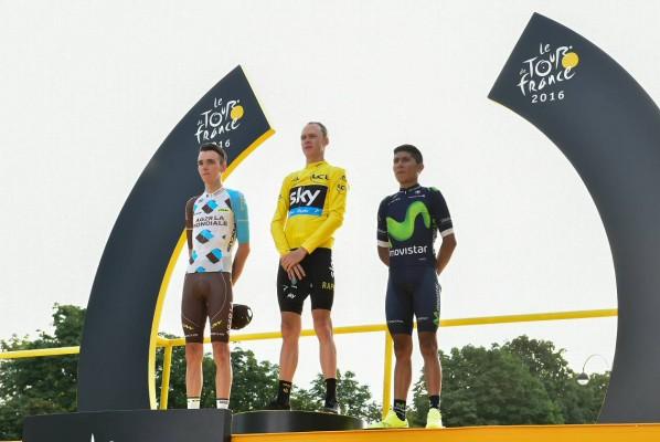Podium Tour de France 2016 (Crédit : ASO/P.Ballet)