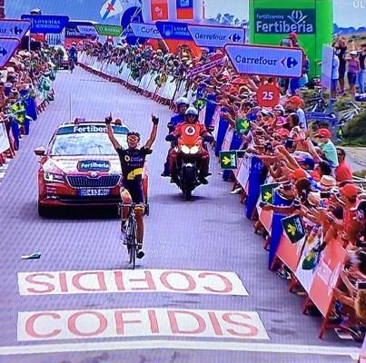 Lilian Calmejane vainqueur de la 4ème étape du Tour d'Espagne