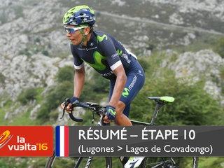 Nairo Quintana vainqueur de la 10ème étape Vuelta 2016