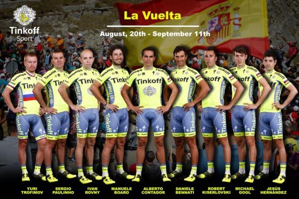 Vuelta 2016 : équipe Tinkoff, leader : Alberto Contador