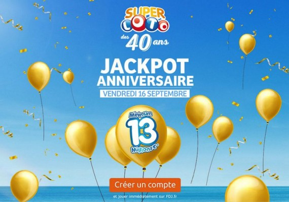Super Loto des 40 ans jackpot anniversaire