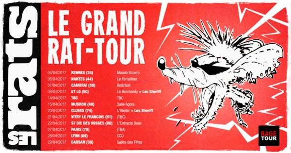 Les Rats en tournée