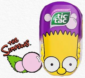 tic-tac-simpson-bart-bubble-gum