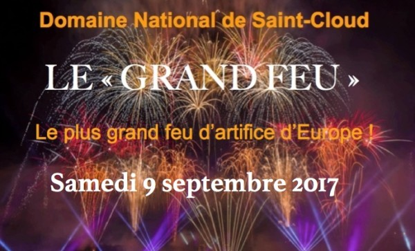 Resultado de imagen de le grand feu d'artifice saint cloud