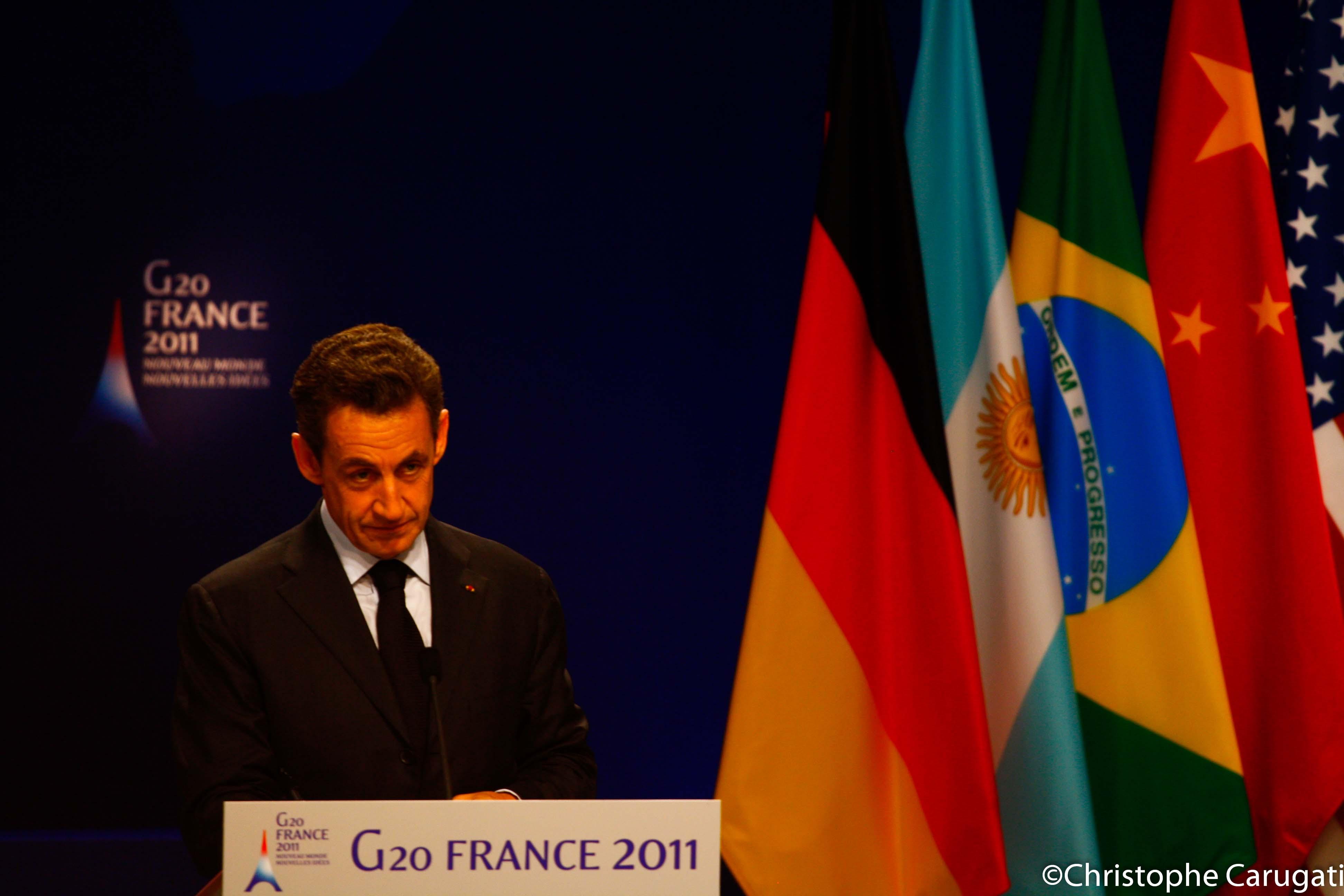 Monsieur Nicolas Sarkozy en conférence de presse