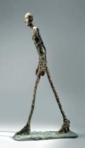 L'Homme qui marche I, 1960, bronze, 183 x 26 x 95,5 cm, Collection Fondation Maeght, Saint-Paul-de-Vence, © Succession Giacometti/ADAGP, Paris 2011 © Photo: Claude Germain