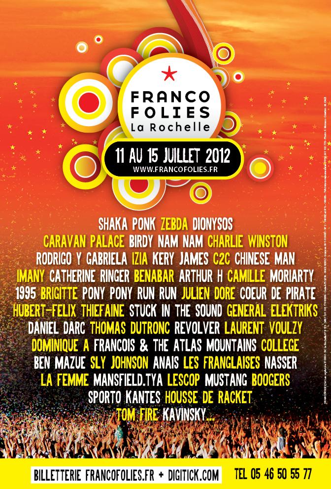 Programmation Francofolies 2012