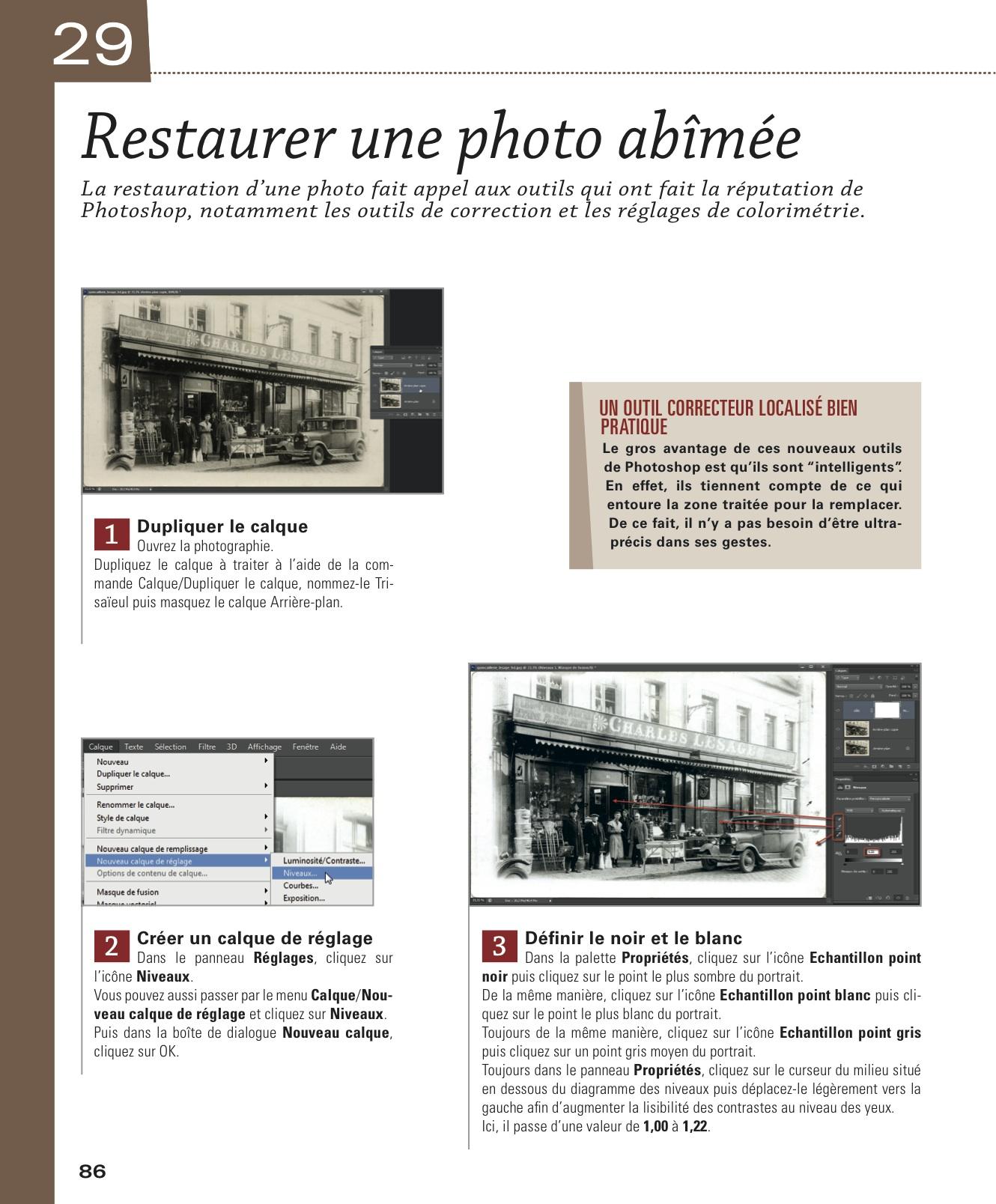 """La restauration d'une photograpghie abimée dans """"photoshop CS6"""""""