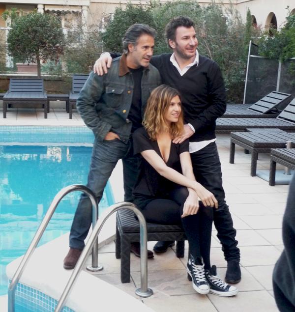 José Garcia, Isabelle Funaro et Michaël Youn à l'hôtel Roi René, Aix en Provence. Crédit photo : France Net Infos