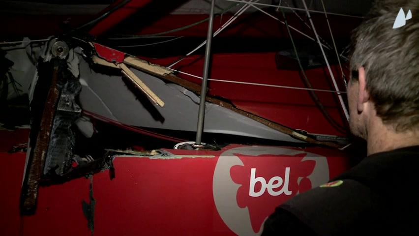 Kito de Pavant (FRA/Groupe Bel) collision avec un chalutier le 12 novembre