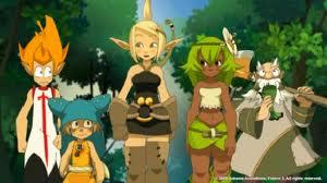 de gauche à droite : Tristepain, Yugo, Evangelyne, Amalia et Ruel