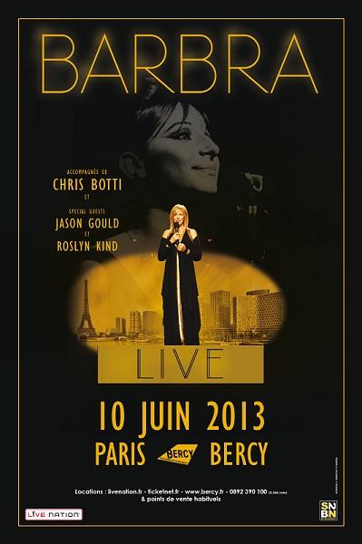 BARBRA STREISAND sera en France pour un concert à Paris Bercy